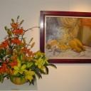 Muestra de arreglos florales en el Museo de Bellas Artes de Tandil