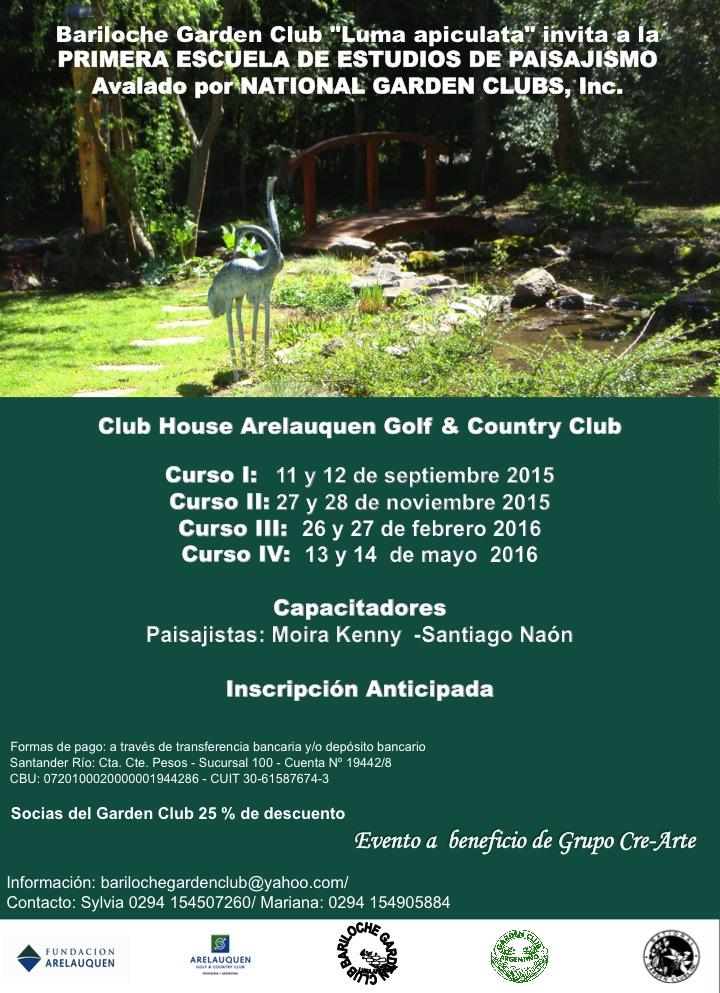 Escuela de estudio del paisajismo garden club argentino for Curso paisajismo