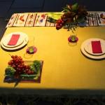 """1° Premio y Copa """"El Calden"""" al mejor uso del color -Mesa Funcional al fresco: Expositora Haydee Blanco"""